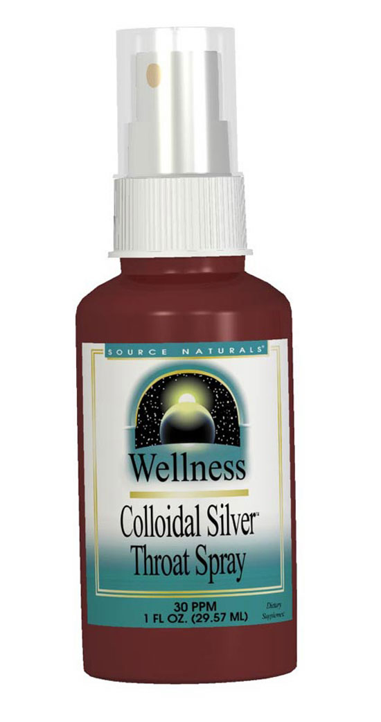 Wellness Colloidal Silver™ Throat Spray bottleshot
