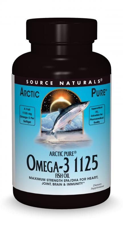 ArcticPure® Omega-3 1125 Fish Oil bottleshot