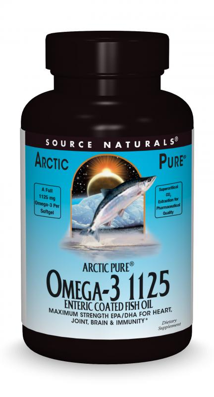 ArcticPure® Omega-3 1125 Enteric Coated Fish Oil bottleshot